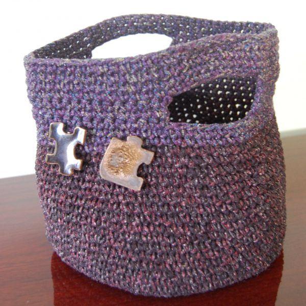 silk basket bag